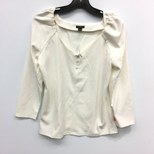 Primary Photo - BRAND: ANN TAYLOR STYLE: TOP LONG SLEEVE COLOR: WHITE SIZE: S SKU: 205-205250-74932