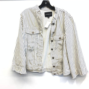 Primary Photo - BRAND: WHO WHAT WEAR STYLE: JACKET OUTDOOR COLOR: STRIPED SIZE: M SKU: 205-205318-379