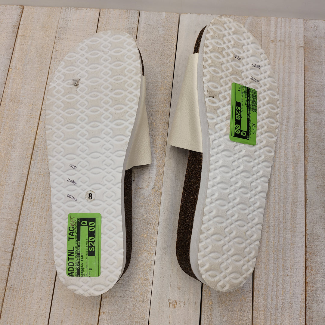 Photo #4 - BRAND:    CLOTHES MENTOR <BR>STYLE: SANDALS FLAT <BR>COLOR: WHITE <BR>SIZE: 8 <BR>OTHER INFO: BC: BORN IN CALIFORNIA - <BR>SKU: 205-205250-80302