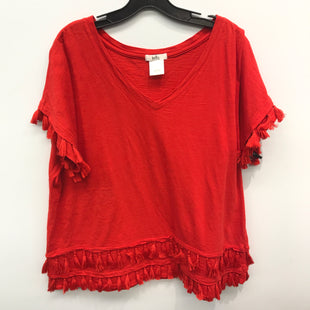 Primary Photo - BRAND:    CLOTHES MENTOR STYLE: TOP SHORT SLEEVE COLOR: RED SIZE: 1X OTHER INFO: ISELA - SKU: 205-205250-60494