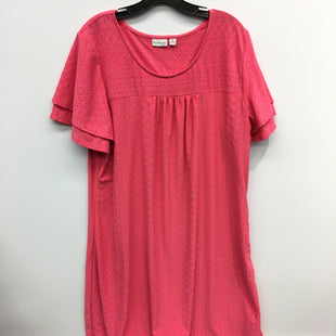 Primary Photo - BRAND: KIM ROGERS STYLE: DRESS SHORT SHORT SLEEVE COLOR: PINK SIZE: 2X SKU: 205-205250-75297