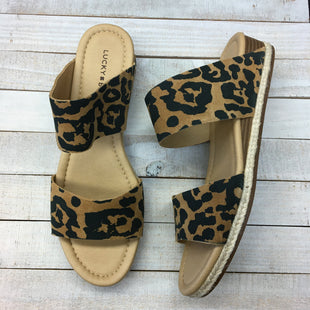 Primary Photo - BRAND: LUCKY BRAND STYLE: SANDALS FLAT COLOR: ANIMAL PRINT SIZE: 11 SKU: 205-205318-3516. 11 MEDIUM.
