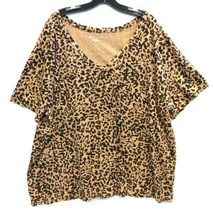 Primary Photo - BRAND: AVA & VIV STYLE: TOP SHORT SLEEVE COLOR: ANIMAL PRINT SIZE: 4X SKU: 205-205250-74180