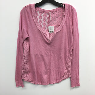 Primary Photo - BRAND: FREE PEOPLE STYLE: TOP LONG SLEEVE COLOR: PINK SIZE: M SKU: 205-205318-3886