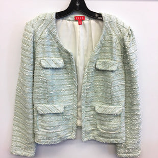 Primary Photo - BRAND: ELLE STYLE: BLAZER JACKET COLOR: BLUE WHITE SIZE: XL SKU: 205-205280-20046