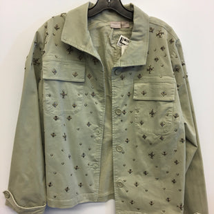 Primary Photo - BRAND: CHICOS STYLE: JACKET OUTDOOR COLOR: GREEN SIZE: XL SKU: 205-205250-54526