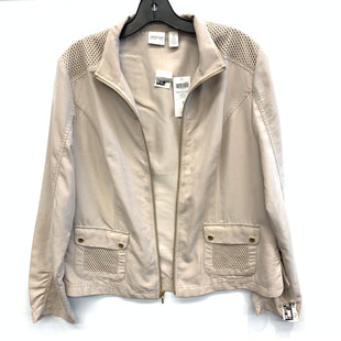 Primary Photo - BRAND: CHICOS STYLE: JACKET OUTDOOR COLOR: KHAKI SIZE: M SKU: 205-205250-52676