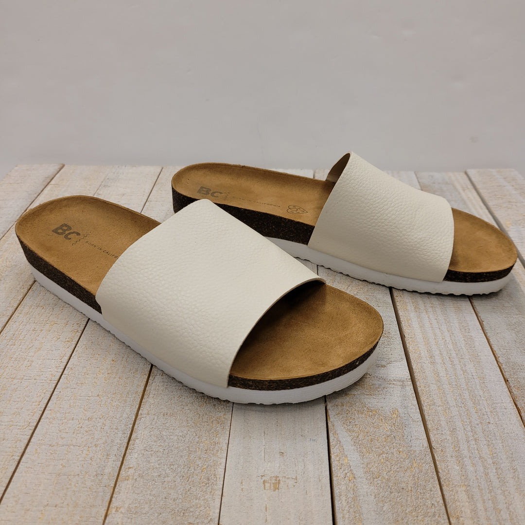 Primary Photo - BRAND:    CLOTHES MENTOR <BR>STYLE: SANDALS FLAT <BR>COLOR: WHITE <BR>SIZE: 8 <BR>OTHER INFO: BC: BORN IN CALIFORNIA - <BR>SKU: 205-205250-80302