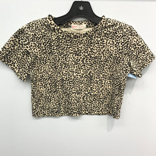 Primary Photo - BRAND:    CLOTHES MENTOR STYLE: TOP SHORT SLEEVE COLOR: ANIMAL PRINT SIZE: S OTHER INFO: ROMWE - SKU: 205-205250-71421