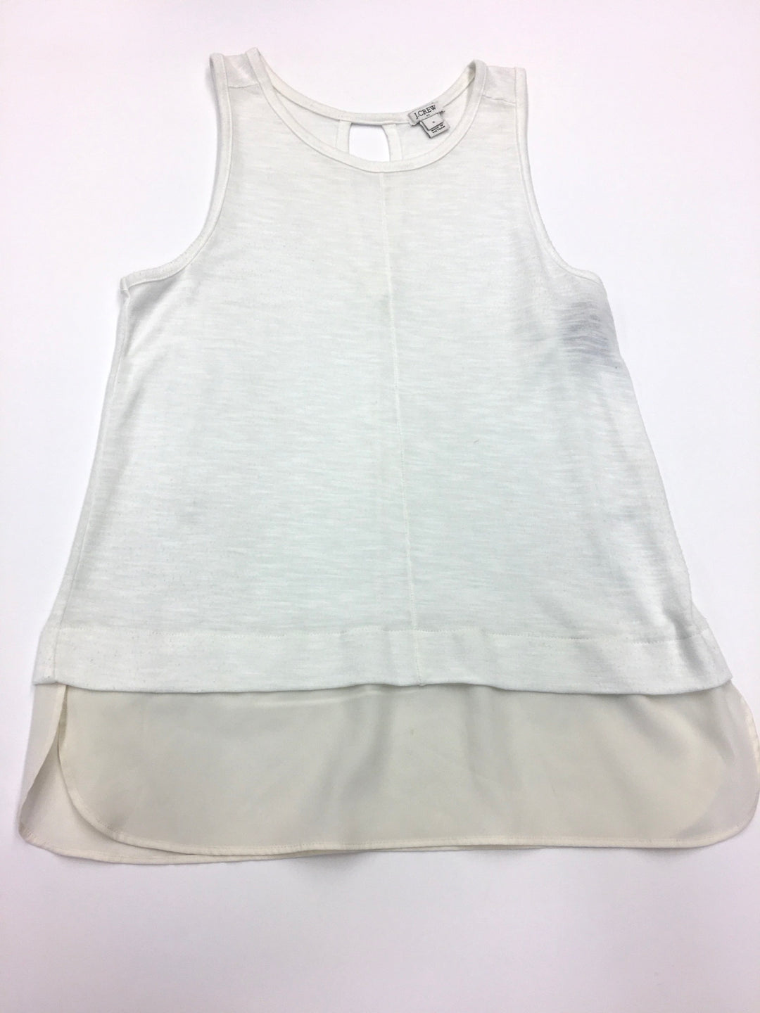 Primary Photo - BRAND: J CREW<BR>STYLE: TOP SLEEVELESS<BR>COLOR: WHITE<BR>SIZE: S<BR>SKU: 205-205299-7587