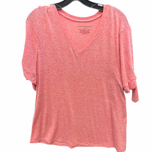 Primary Photo - BRAND: LANE BRYANT STYLE: TOP SHORT SLEEVE COLOR: PINK SIZE: 18 SKU: 205-205299-17280