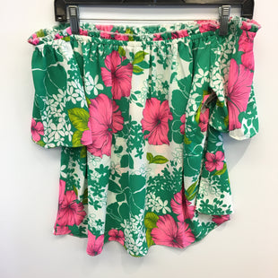 Primary Photo - BRAND:    CLOTHES MENTOR STYLE: TOP SHORT SLEEVE COLOR: FLORAL SIZE: M OTHER INFO: IZZY AND LOLA - SKU: 205-205250-77543