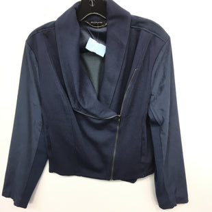 Primary Photo - BRAND: HALSTON STYLE: JACKET OUTDOOR COLOR: BLUE SIZE: 12 SKU: 205-205250-53631