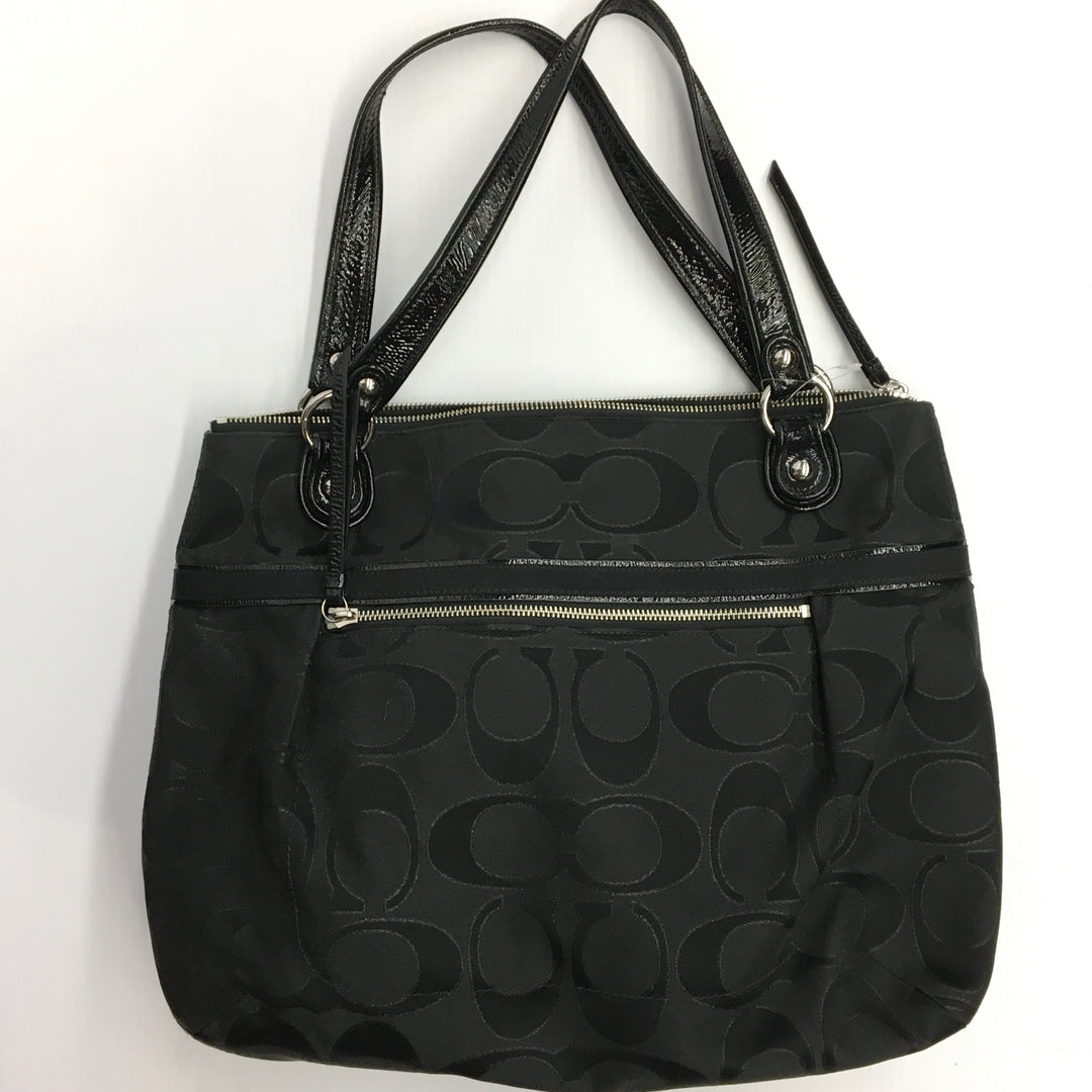 Primary Photo - BRAND: COACH <BR>STYLE: HANDBAG DESIGNER <BR>COLOR: BLACK <BR>SIZE: MEDIUM <BR>SKU: 205-205250-77731
