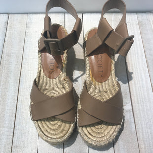 Primary Photo - BRAND: SOLE SOCIETY STYLE: SANDALS LOW COLOR: BROWN SIZE: 6.5 SKU: 205-205318-3914