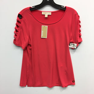 Primary Photo - BRAND: MICHAEL BY MICHAEL KORS STYLE: TOP SHORT SLEEVE COLOR: GERANIUM SIZE: M SKU: 205-205250-77358