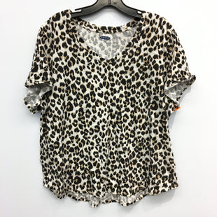 Primary Photo - BRAND: OLD NAVY STYLE: TOP SHORT SLEEVE COLOR: ANIMAL PRINT SIZE: 2X SKU: 205-205318-3379