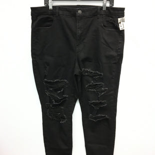 Primary Photo - BRAND: AMERICAN EAGLE STYLE: PANTS COLOR: BLACK DENIM SIZE: 20 OTHER INFO: CURVY HIRISE JEGGING SKU: 205-205250-72479