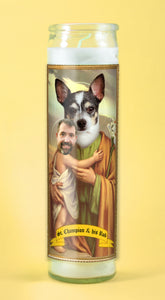 PARENT & CHILD Customized Prayer Candle - Funny Pet Gift - Novena Candle - Dog Prayer Candle - Go Saint Yourself