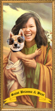 Load image into Gallery viewer, PARENT & CHILD Customized Prayer Candle - Funny Pet Gift - Novena Candle - Dog Prayer Candle - Go Saint Yourself