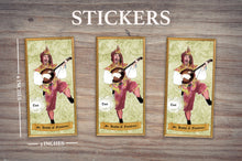 Load image into Gallery viewer, JESTER SAINT OF FLATULENCE - Personalized Sticker - Pack of 3 Identical Stickers- JUST THE STICKER