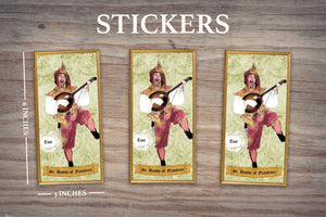 JESTER SAINT OF FLATULENCE - Personalized Sticker - Pack of 3 Identical Stickers- JUST THE STICKER