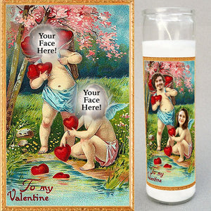 VALENTINE CUPIDS Prayer Candle - Funny Anniversary Gift - Valentine Candle - Valentine Novena Candle - Funny Wedding Gift