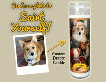 Load image into Gallery viewer, SANTA CLAUS Pet Prayer Candle - Funny Saint Candle - Pet Santa Candle - St Nick Candle - Corgi Prayer Candle - Fur Baby Candle