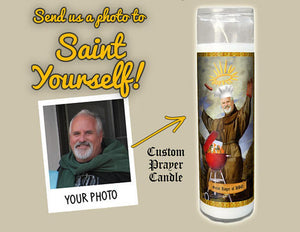 SAINT OF BARBECUE BBQ Prayer Candle - Fathers Day Gifts - Custom Barbecue Prayer Candle - Funny Saint Candle - Personalized Gifts - Holy Grill