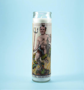 THE DEVIL Custom Prayer Candle ~ Satan Candle - Funny Prayer Candle - Saint Your Pet - Parody Candle - Prank Gift
