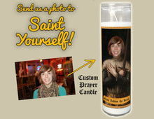 Load image into Gallery viewer, THE KNIGHT Custom Prayer Candle - Shining Armor Prayer Candle - Funny Saint Candle - Funny Dude Gift - Fighter - Warrior Candle