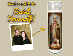 THE BISHOP Custom Prayer Candle - Personalized Prayer Candle - Funny Saint Candle - Funny Birthday Gift - Funny Office Gift - Gag Gift
