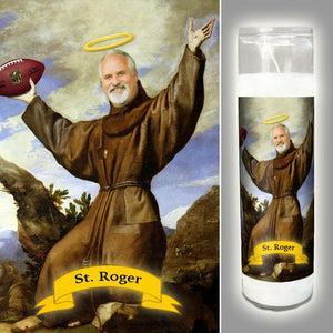 SAINT OF FOOTBALL - Custom Saint Candle - Football Prayer Candle - Funny Prayer Candle - Brother or Brother in Law Gift - Sports Lover Gift