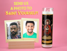Load image into Gallery viewer, HOLY DUO - Personalized Custom Prayer Candle - Novena Candle - Funny Prayer Candle - Devotional Mother Candle - Gift for Sibling - Unique Gifts