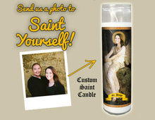 Load image into Gallery viewer, THE SEATED ANGEL - Custom Prayer Saint Candle - Birthday Gift for Her - Custom Mothers Day Gift - Angel Candle - Funny Birthday Gift