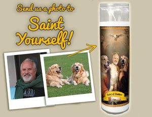 HOLY FAMILY Prayer Candle - 3 person Custom Prayer Saint Candle - Family Prayer Candle - Pet Loss Gift - Pet Memorial Candle - Pet Sympathy