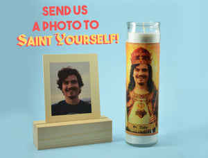 THE KING - Customized Prayer Candle - Personalized Devotional Candle - Funny Saint Candle - El Rey Regalo  - Saint Yourself