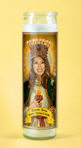 The QUEEN Custom Prayer Candle - Selfie Prayer Candle - Funny Saint Candle - Gift for Her - Funny Birthday Gift - Funny Gift for Mom
