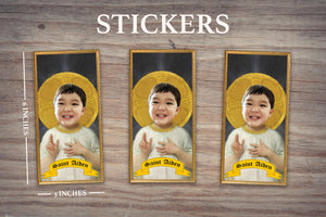 THE CHILD - Personalized Sticker - Pack of 3 Identical Stickers - JUST THE STICKER