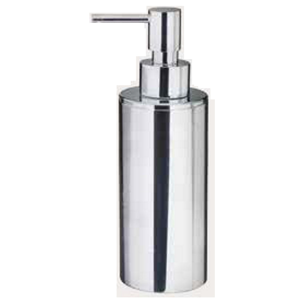 Chromed Round Soap Dispenser Holder Linea G