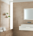Bathroom Gradual Beige Wall tiles 25x60 Ascot Ceramiche