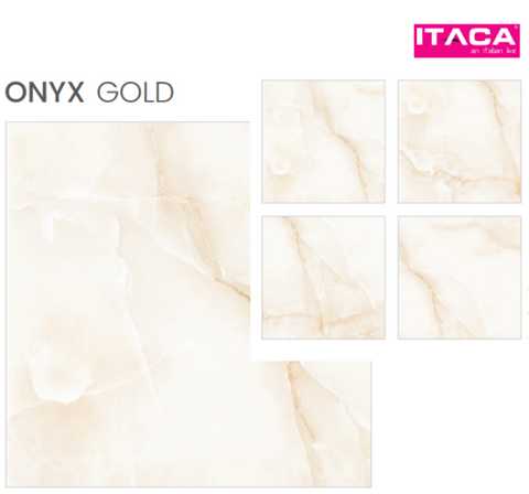 Floor Porcelain stoneware FINISH Onyx Gold Size 80X80 Rectified ITACA