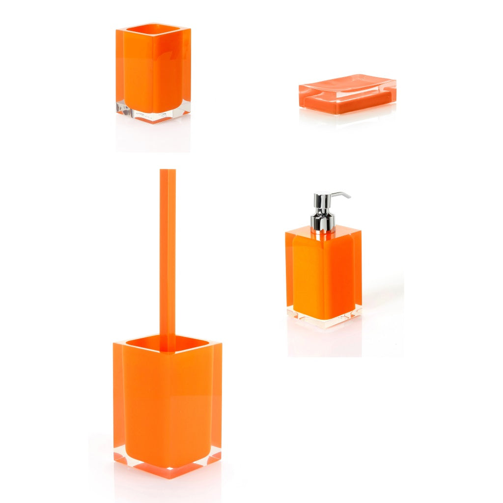 Orange Bathroom Accessories Gedy Rainbow