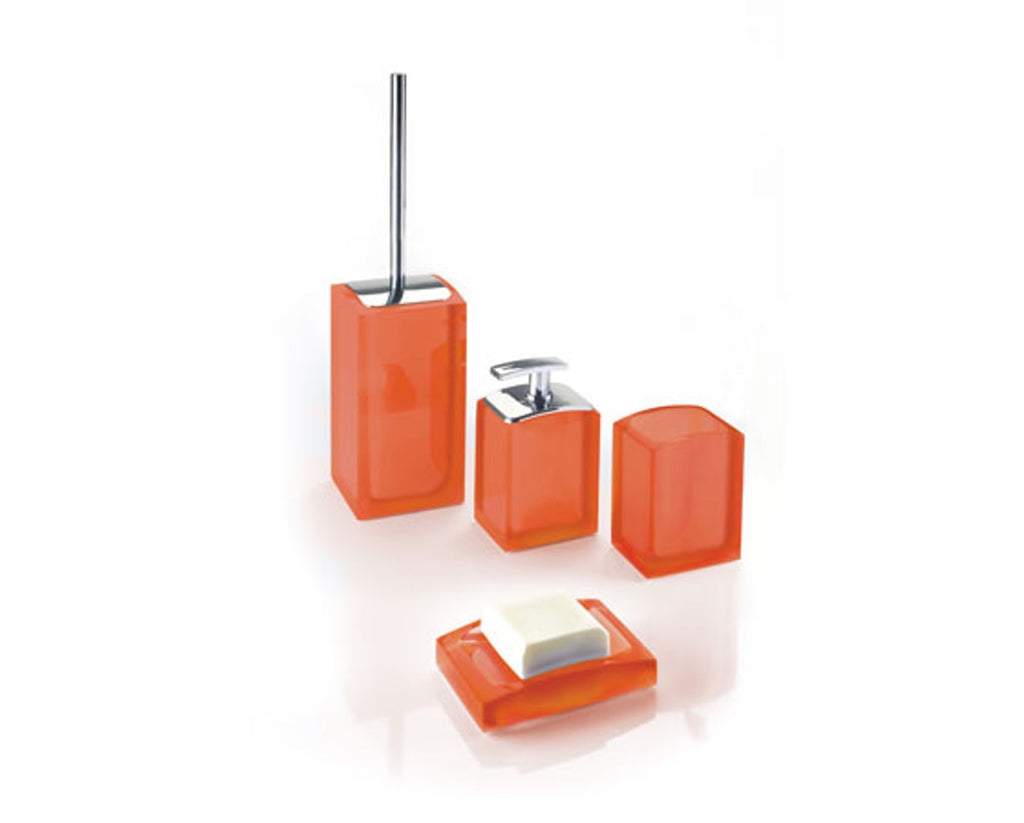 Orange Sit-On Bathroom Accessories Gedy Antares