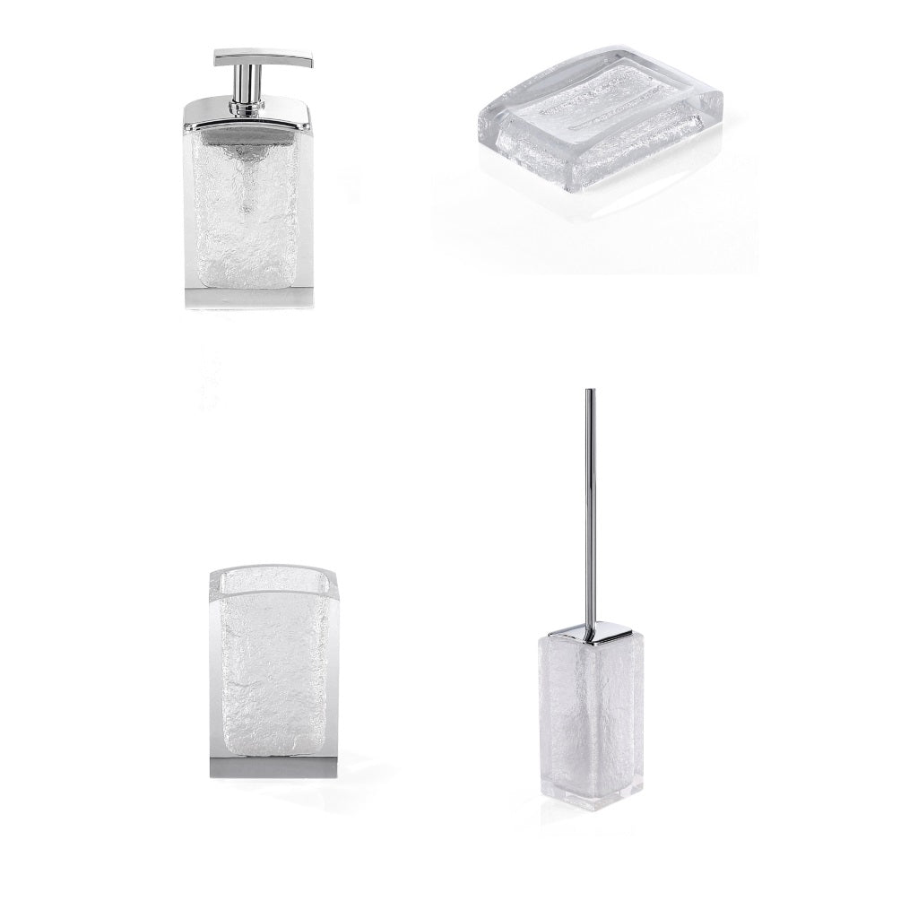 White Bathroom Accessories Set Gedy Antares