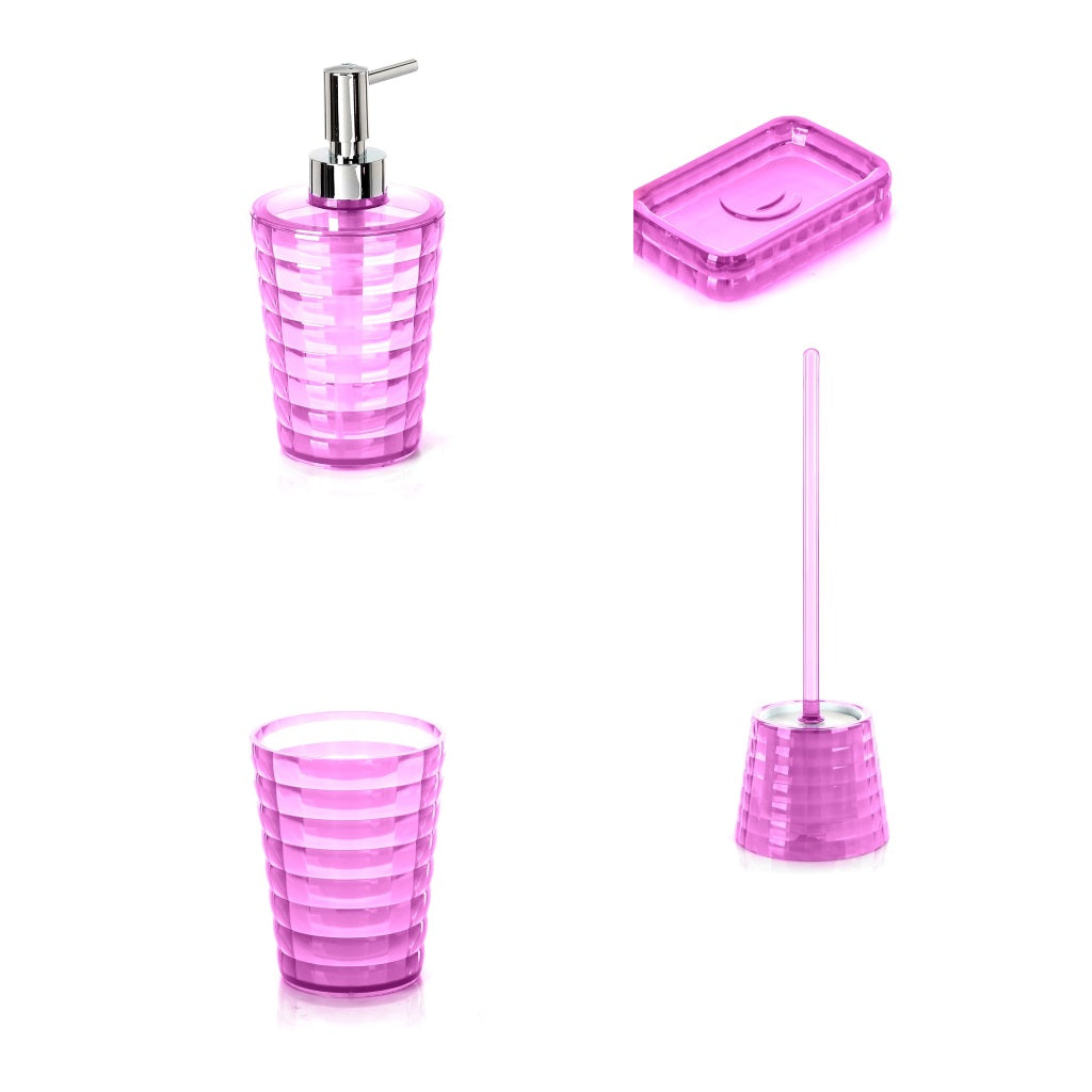 Fucsia Bathroom Accessories Set Gedy Glady