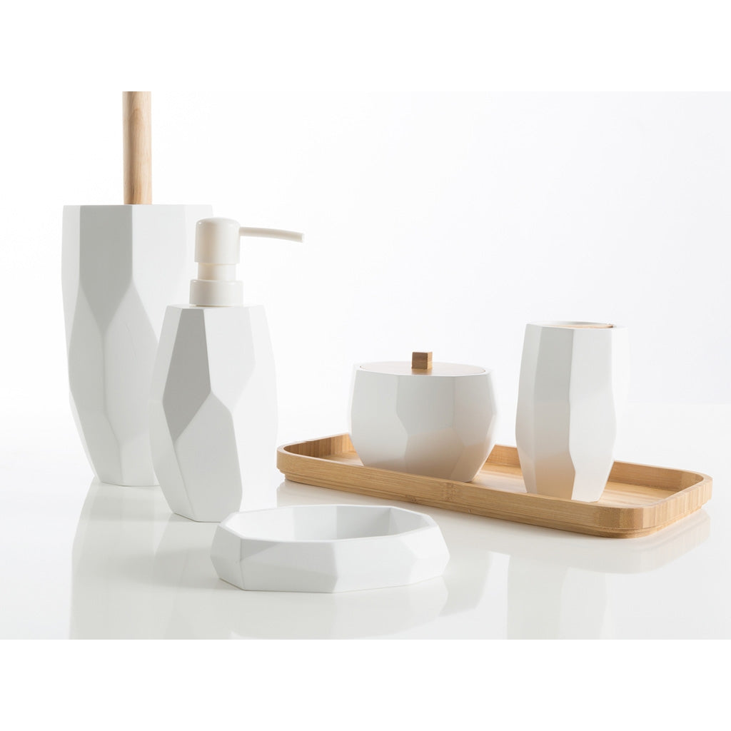 White Bathroom Accessories Set Cipì Surface