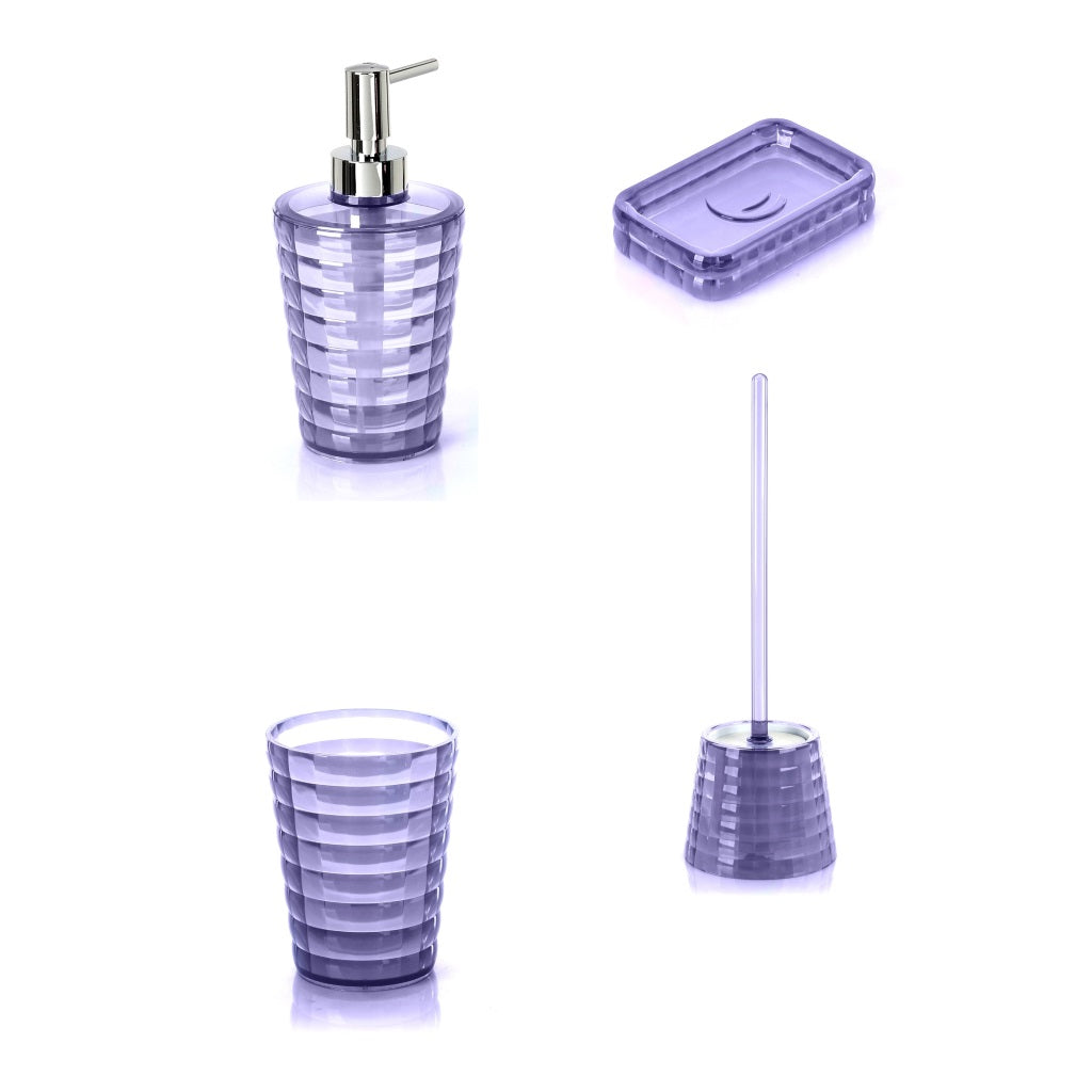 Lilac Bathroom Accessories Set Gedy Glady
