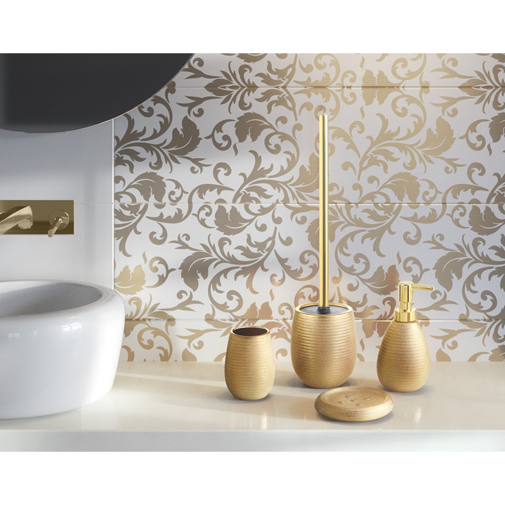 Gold Complete Bathroom Accessories Gedy Astrid