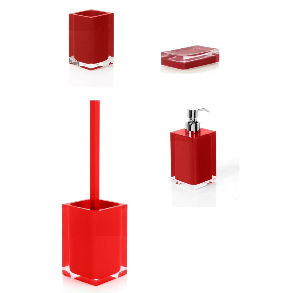 Red Bathroom Accessories Gedy Rainbow